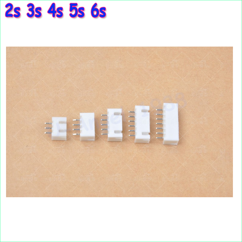 20pcs/lot 2s 3s 4s 5s 6s Balance Charging Connector JST-XH2.5 2.5MM female pins For Imax B6 Charger jst xh 2s 3s 4s 5s 6s lipo balance cable charging power wire 10cm