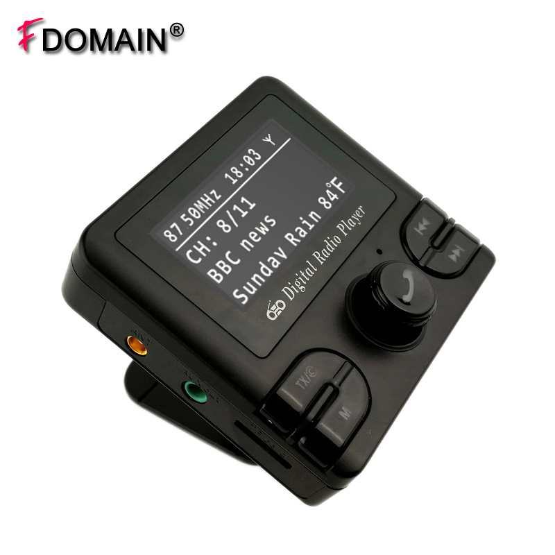 FDOMAIN car dab plus digital radio receiver adapter FM transmitter With Bluetooth handsfree car dab radio receiver fm transmitter handsfree bluetooth radio in car dab radio tuner with antenna support tf card