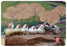mini solid pvc animal model figure toy gift birds 7pcs/set toy gift
