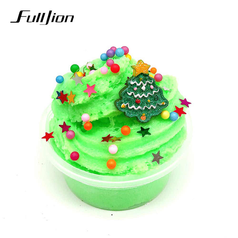 Christmas Slime.Fulljion Modeling Clay Christmas Slime Plasticine Soft Diy Fluffy Popular Toys Lizun Learning Education Toy For Kids