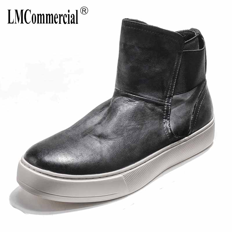 autumn winter British retro men high-top shoes all-match cowhide men's Chelsea boots breathable fashion Martin casual boots male new winter boots martin male tide high velvet warm shoes men british short boots all match cowhide cashmere men s casual shoes