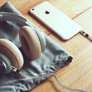Image 4 - EMK AUX כבל 3.5mm עזר אודיו כבל AUX כבל עבור רכב/בית סטריאו, אוזניות, עבור iPhone הד נקודה, רמקול, Sony, פעימות