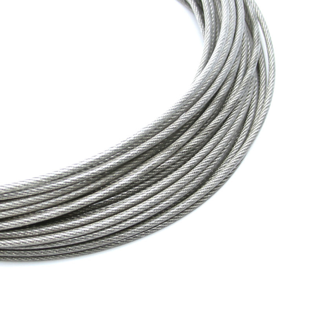 Overall Diameter 5MM PVC Plastic Coated Stainless Steel Wire Rope ...