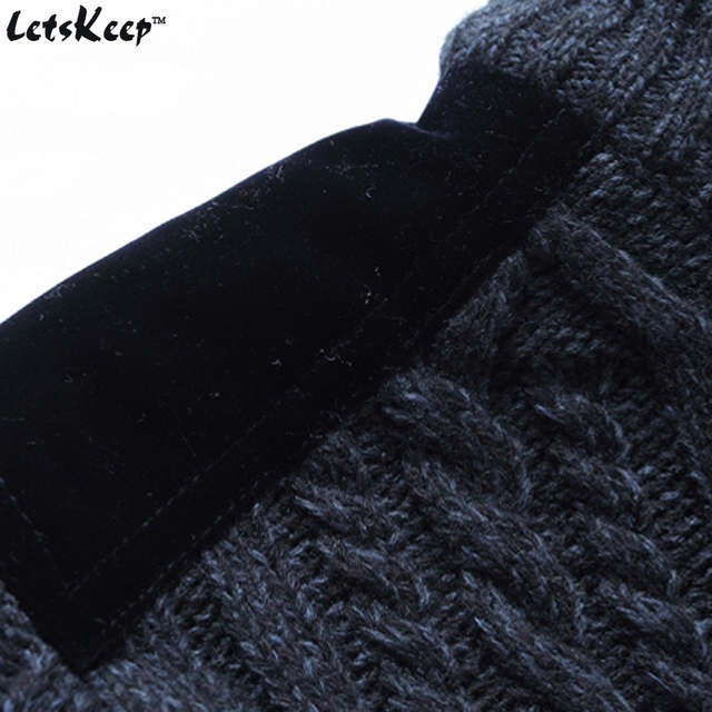 New LetsKeep winter mens fleece cardigan sweaters casual strickjacke sweatercoat men warm thick stand collar sweater 3XL , MA261