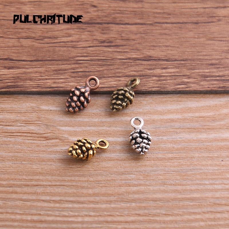 20pcs 5*7*13mm New Three Color Pine Nut Charms  Christmas Pendants For DIY Jewelry Handmade Making Accessorie P6794 2