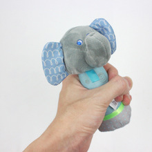 Baby Rattle Newborn Cartoon Animal Hand Grip Rod Toys Elephant Plush Doll 0-12 Months