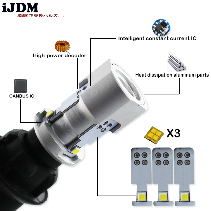 Automobiles & Motorcycles Collection Here 2pcs White 100lm 1156 P21w Ba15s 4014 45smd Decoder Lamp Canbus Bulb Reverse Lights With Resistor Led Lamp Turn Signals Drl Bulb