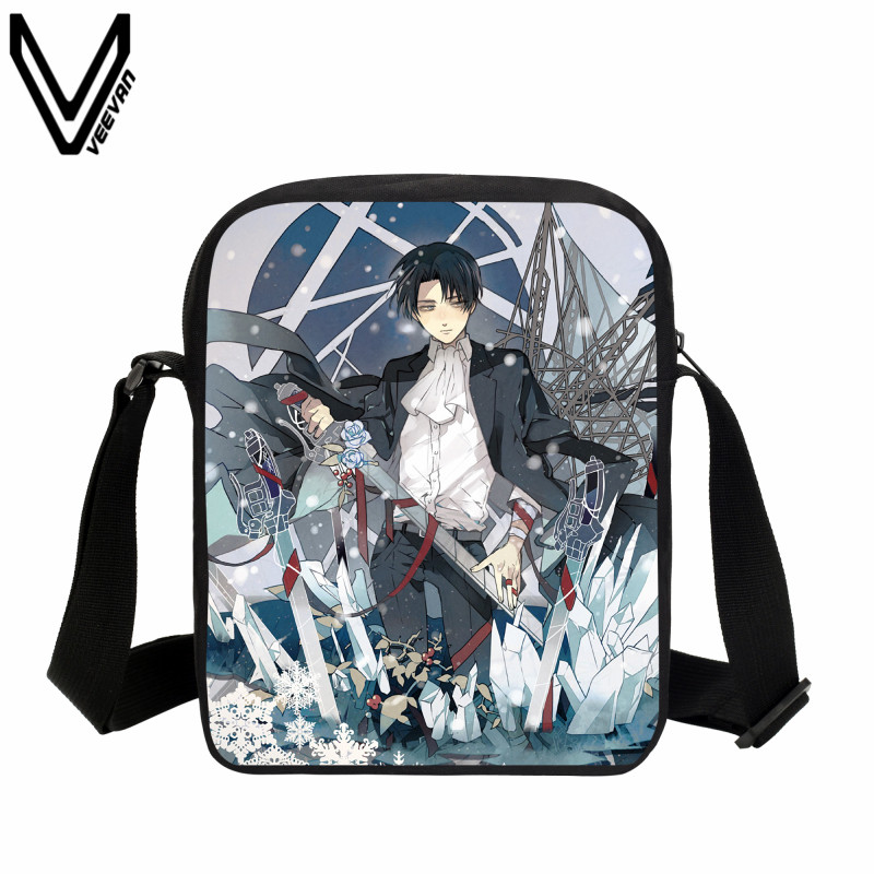 VEEVANV Anime Attack on Titan Mini Purse Messenger Bag Girls Small School Shoulder Bag Casual Boys Bookbag Children Croboddy Bag anime attack on titan mini messenger bag boys ataque on titan school bags mikasa ackerman eren shoulder bags kids crossbody bag