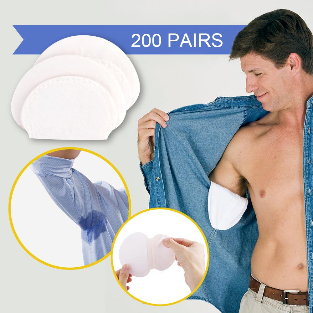 100/200/300/400pcs Summer Armpit Sweat Pads Disposable Underarm Deodorants Stickers Absorbing Sweat Anti Perspiration Patch