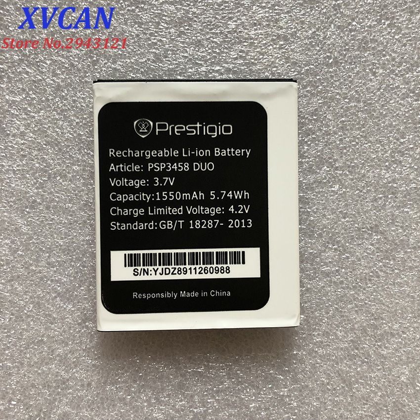 For <font><b>Prestigio</b></font> PSP3458 PSP <font><b>3458</b></font> wize O3 1550mah Mobile Phone Li-ion Battery Replacement image