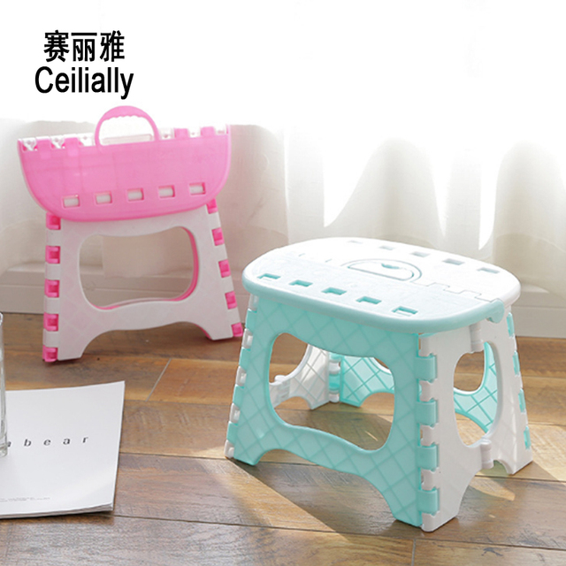 24 5 19 19cm Pink Fishing Stool Bathroom Stool Plastic Folding 6