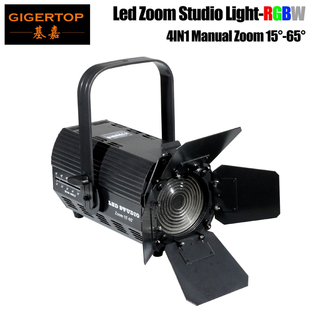 TIPTOP Compacted Size 200W RGBW Zoom Led Studio Light No Flicker High Frequency 2000HZ Silent Working Barndoor Beam Dimmer Curve