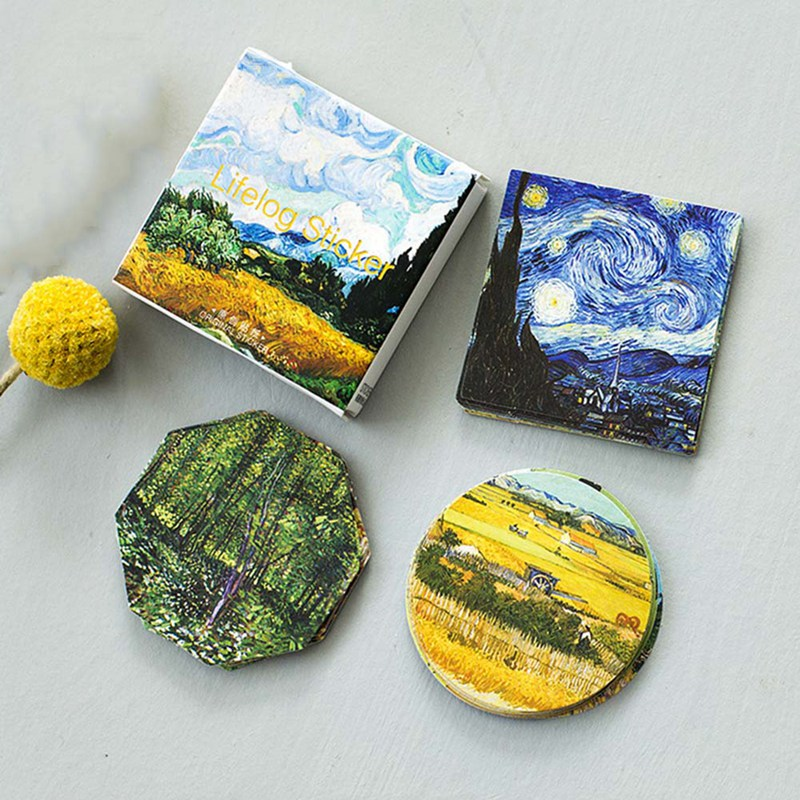 45Pcs/Set Sticker Meet Van Gogh Classic Sticker Art Oil Paiting Album Diary Phone Decoration Seal Diy Box Stickers Girl(China)