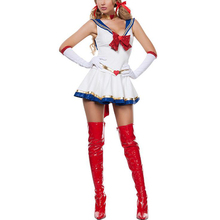 VASHEJIANG Anime Sailor Moon Costume Cosplay Sexy Disfraz Adult Halloween Carnaval Costumes for Women Ladies Fancy Party Dress