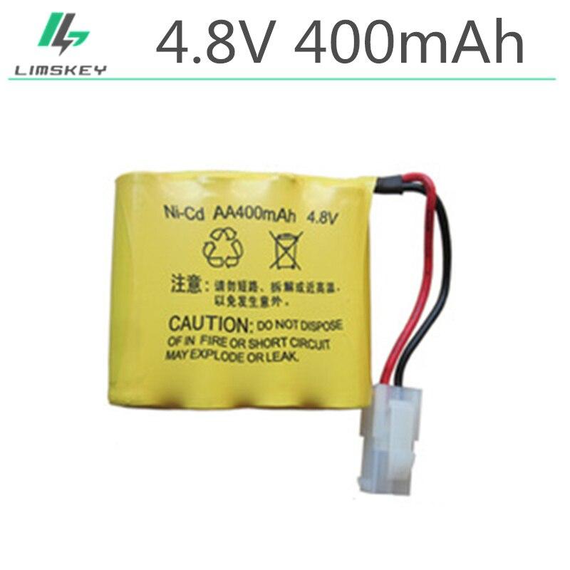 2pcs/packaging 4.8V 400mAh AA 4 in 1 Ni-Cd battery set Huanqi RC Tank 508 550 RC Car HQ 611 605 for 5559 2P Plug