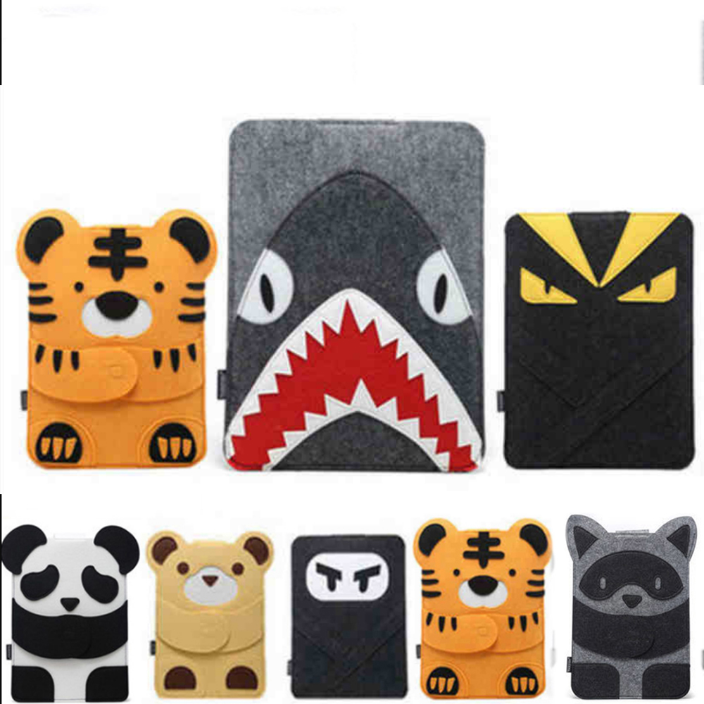 Wool Felt Laptop Sleeve Bag for Macbook pro 13 case Air Retina 11 12 13.3 14 15 inch Cartoon Laptop Case for Mac 13 image