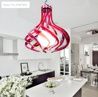 Modern art design Acryl piano white pendant lamps Novelty charming natural curly line lights for bedroom&bar&garden&stairs&porch