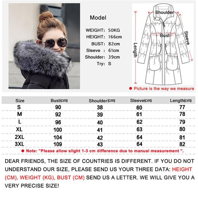 chaqueta mujer Women Down Jacket New 2018 Winter Jacket Women Thick Snow Wear Winter Coat Lady Clothing Female Jackets Parkas  5