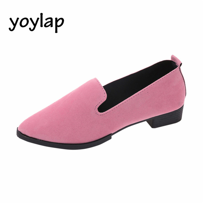 2018 summer Women Ladies Slip On Flat Casual Shoes Solid Fashion Loafer Female frosted face pointed plain flat single shoes instantarts women flats emoji face smile pattern summer air mesh beach flat shoes for youth girls mujer casual light sneakers
