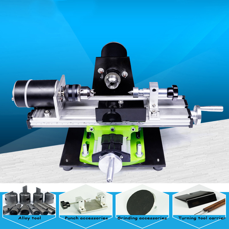 Mini wooden bead processing machinery household mini lathe bead machine bead drilling machine bead polisher 220V bead simple