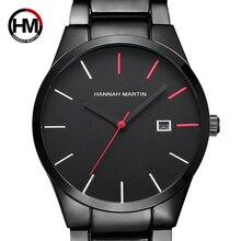 2018 кварцевые Творческий Vogue красный и черный нержавеющая сталь Группа бизнес для мужчин лучший бренд класса люкс часы De Luxo водонепрони