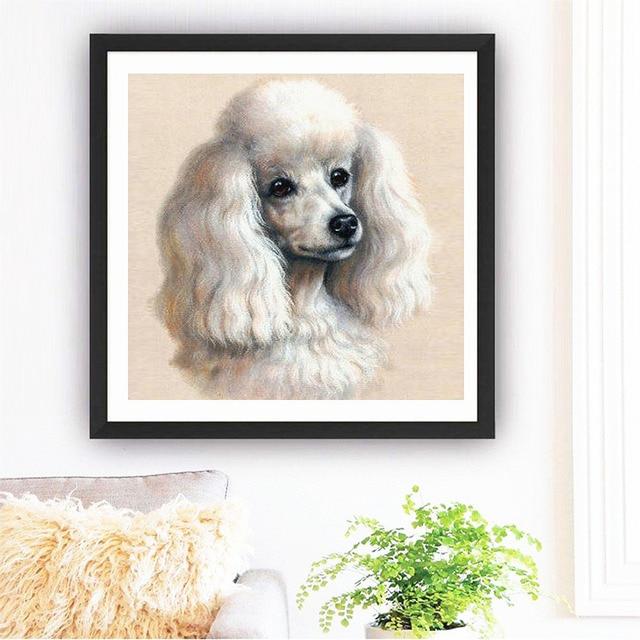 HUACAN Diamond Embroidery Dog 5d Diy Diamond Painting Set Diamond Mosaic Animal Full Square Picture Of