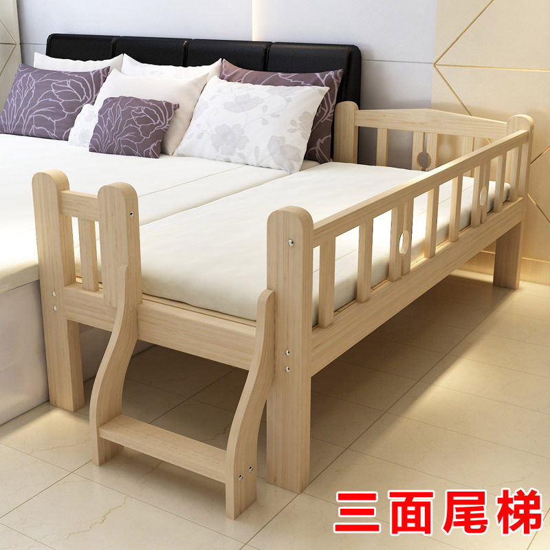 Pure Nature Wood Frame 26kg Sleeping Alone. Bedroom Baby Bed  Sleep With Parents   Small Bed 150*70*40(China)