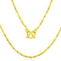 Pure Solid 999 24K Yellow Gold Necklace Women Full Star Link Chain Necklace P6279