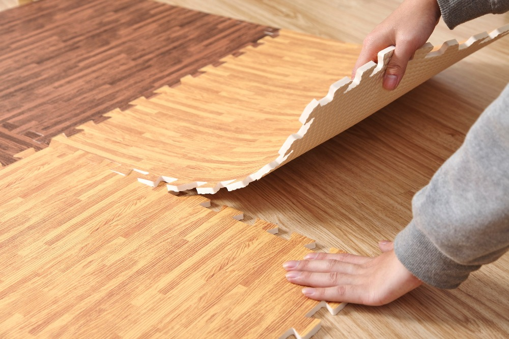 60cm 1cm wood grain printing puzzle mats foam floor carpet crawling game  mats excersizing eva sport - Compare Prices On Wood Foam Flooring- Online Shopping/Buy Low