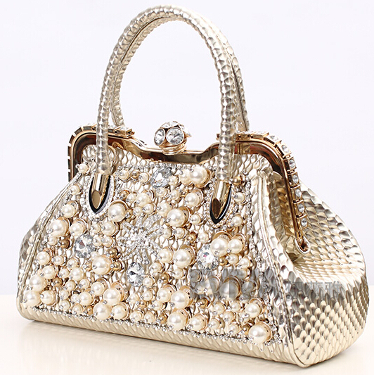 Erfly New Arrival Pearl 2017 Diamond Handbag With Bag Rhinestone Female Casual Bags One Shoulder Cross Body In Top Handle From Luggage