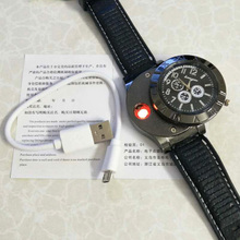 The Perpetual Spark Watch USB Charging sports Lighter Watch Men's Casual Quartz Wristwatches with Windproof Flameless Cigarette Lighter
