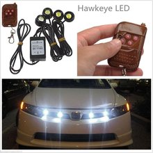 New Arrival 4in1 Kit 12V Explosion Flash LED Car Emergency Strobe Lights DRL Wireless Remote Control