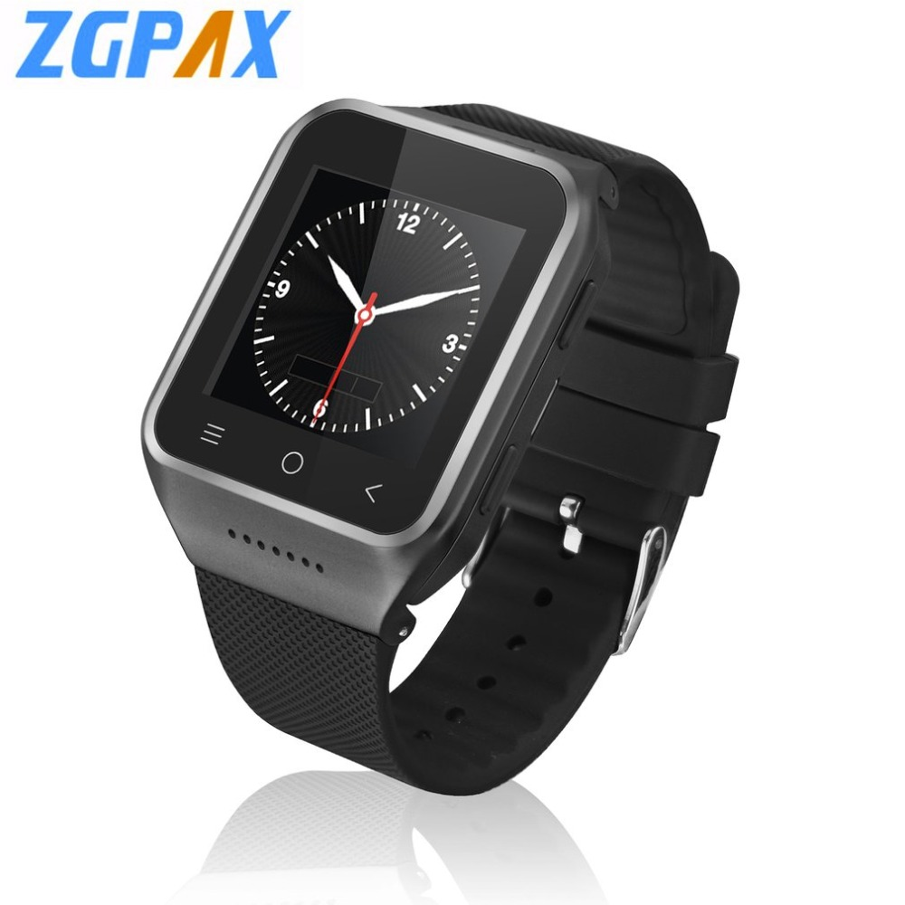 ZGPAX S8 Smart Watch Phone Android 4.4 MTK6572 Dual Core 1.5 Inch WIFI GPS Camera 3G WCDMA Bluetooth MP3 MP4 Smartwatch Phone цена