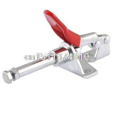 Red Lever Handle 301A 99 Lbs Quick Holding Push Pull Plunger Toggle Clamp Tool push pull fast fixture clamp tooling b302f36070305e302d36020301ab
