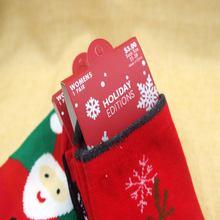 New Women's Snowflake Deer Printed Cotton Casual Socks