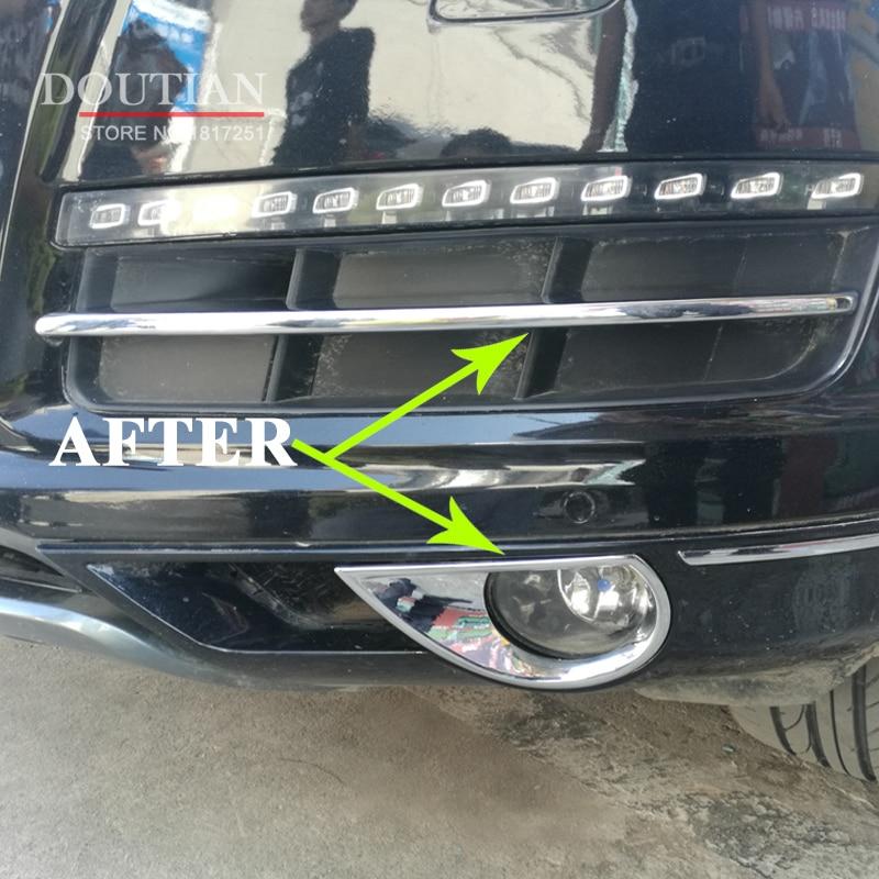 Car Front Grille Trims For Audi Q7 2014 2015 Front Bumper Air inlet Grille ABS Chrome