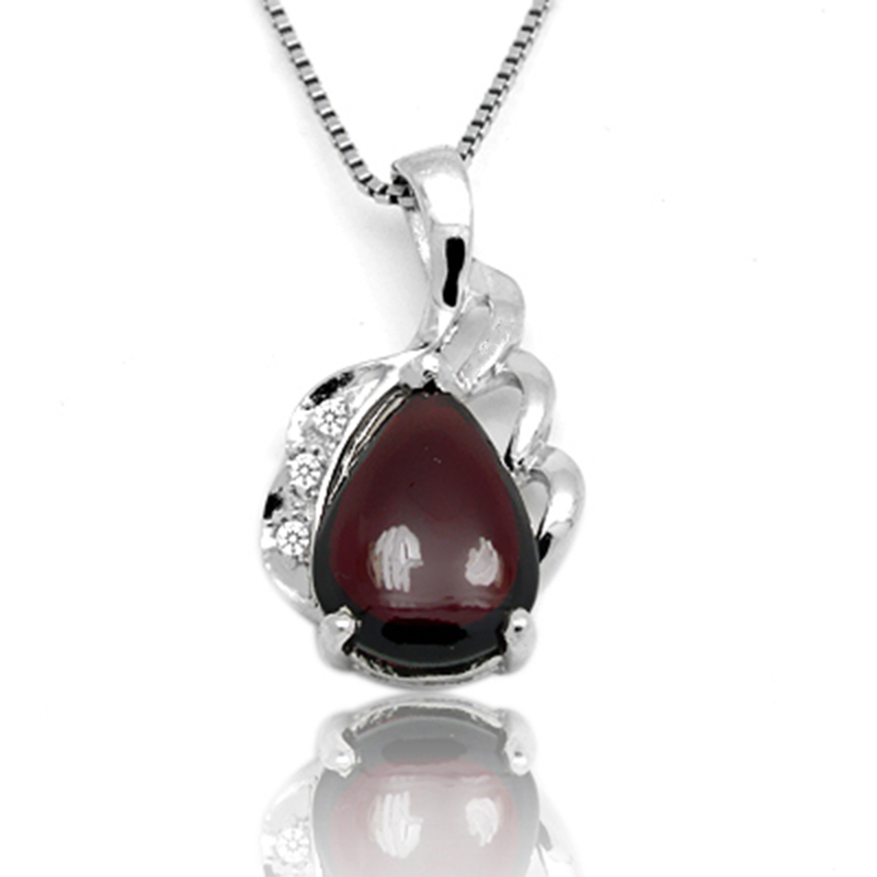 Collares Qi Xuan_Dark Red Stone Simple Pendant Necklace_Real Natural Necklace_Quality Guaranteed_Manufacturer Directly Sale Collares Qi Xuan_Dark Red Stone Simple Pendant Necklace_Real Natural Necklace_Quality Guaranteed_Manufacturer Directly Sale