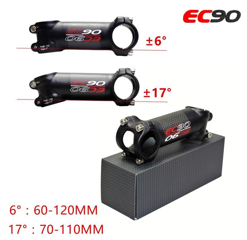 A marqué le monde de top vtt série pack ultra-léger en fiber de carbone tige/riser diamètre 80mm-120 MM 28.6-31.8mm