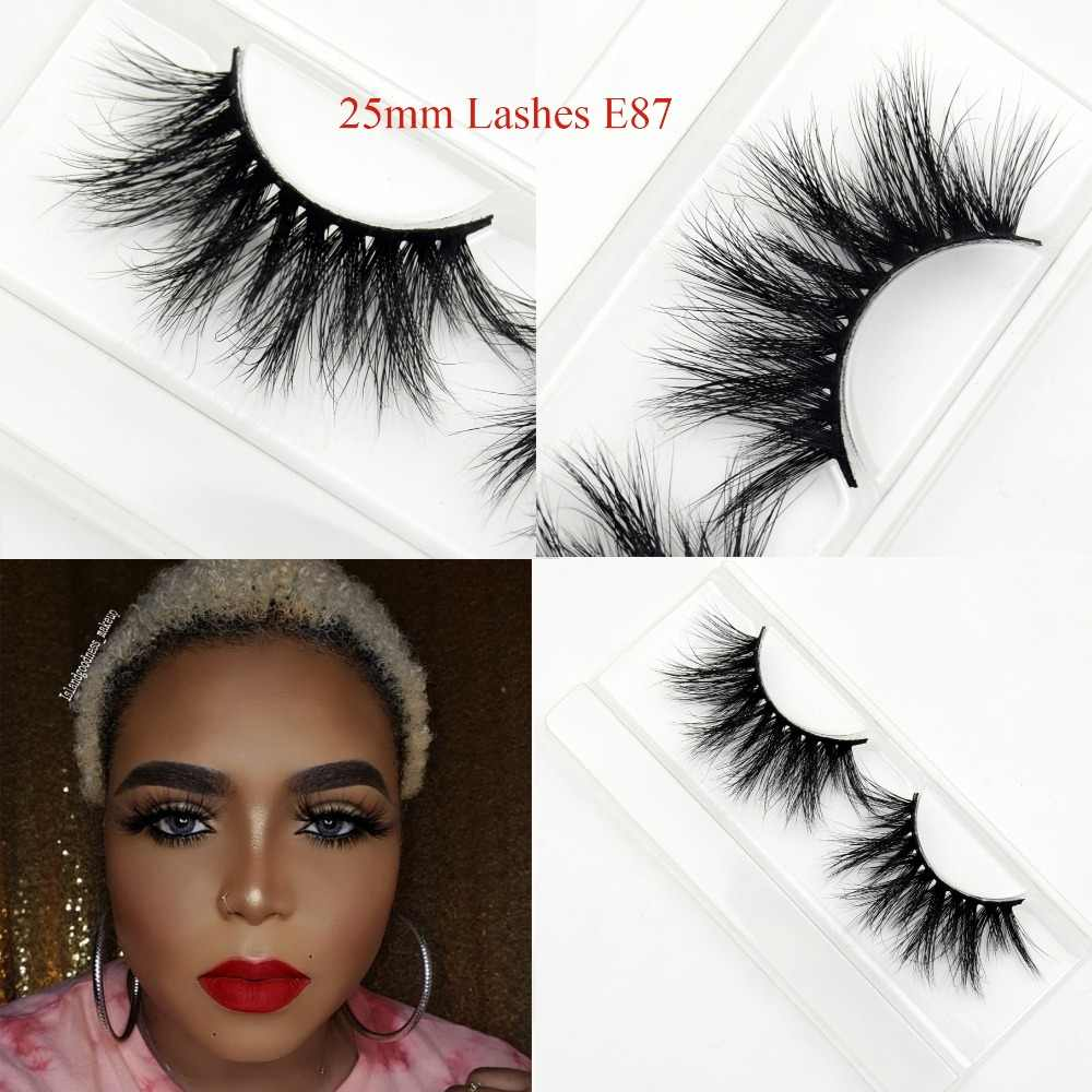 a6eb96012a7 Visofree Eyelashes 25mm 3D Mink Lashes Dramatic Volume False Eyelashes Fake  Lashes Long Makeup Eyelash Extension