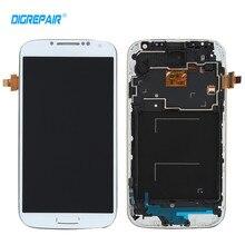 Белый для Samsung Galaxy S4 i9505 ЖК-дисплей Дисплей Сенсорный экран планшета полный сборки + ободок Рамка Бесплатная доставка