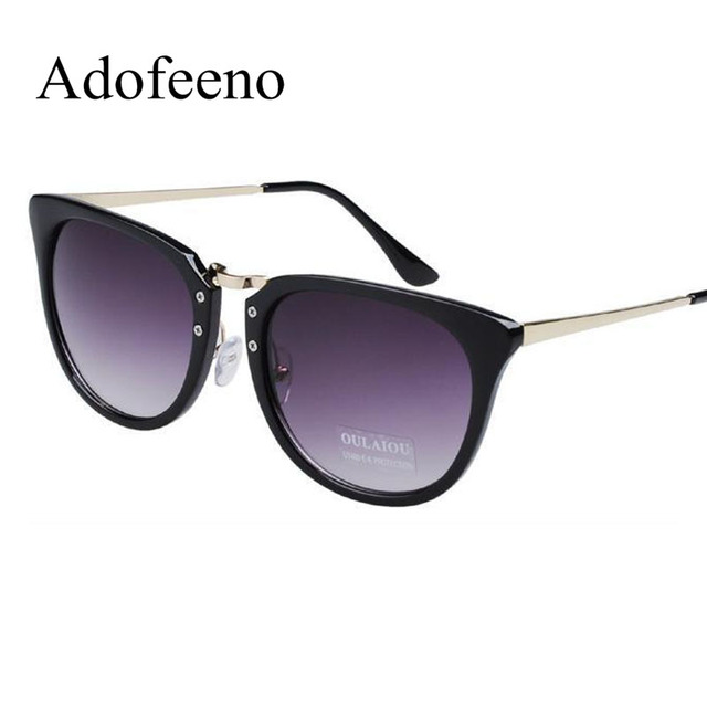 ded8b0de46b Adofeeno Fashion Sunglasses Women Brand Designer for Women oculos de sol  feminino Steampunk Mental Frame Polarized Blue