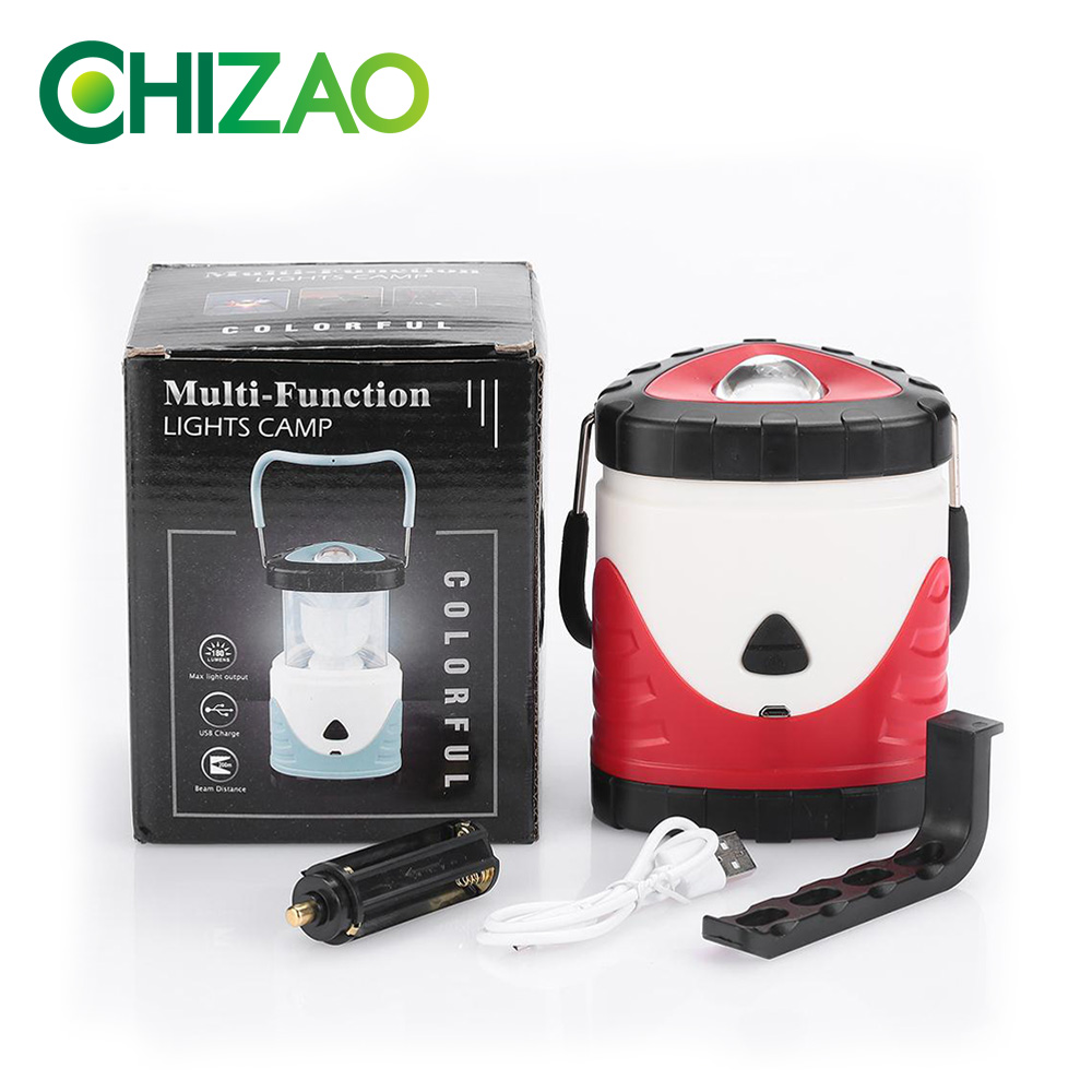 Купить с кэшбэком CHIZAO Dimmable Camping Portable Light Flashlight Multifunction Travel Super Bright Tent Light Portable Lanterns USB Charging