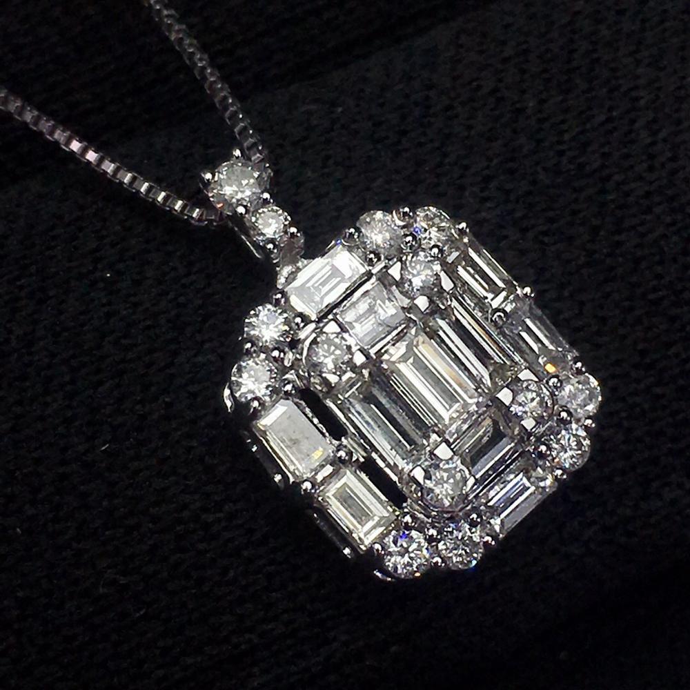 Bijoux en or blanc 18 K pur bijoux en or naturel Emearld 0.55ct pierres précieuses ensemble de bijoux pour femmes ensembles de bijoux fins