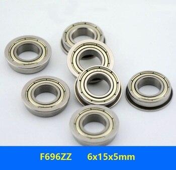 20 piezas/50 uds/100 Uds F696ZZ F696-2Z F696 ZZ Z 6x15x5mm brida miniatura rodamiento de bolas Ranura Profunda doble blindado 6*15*5