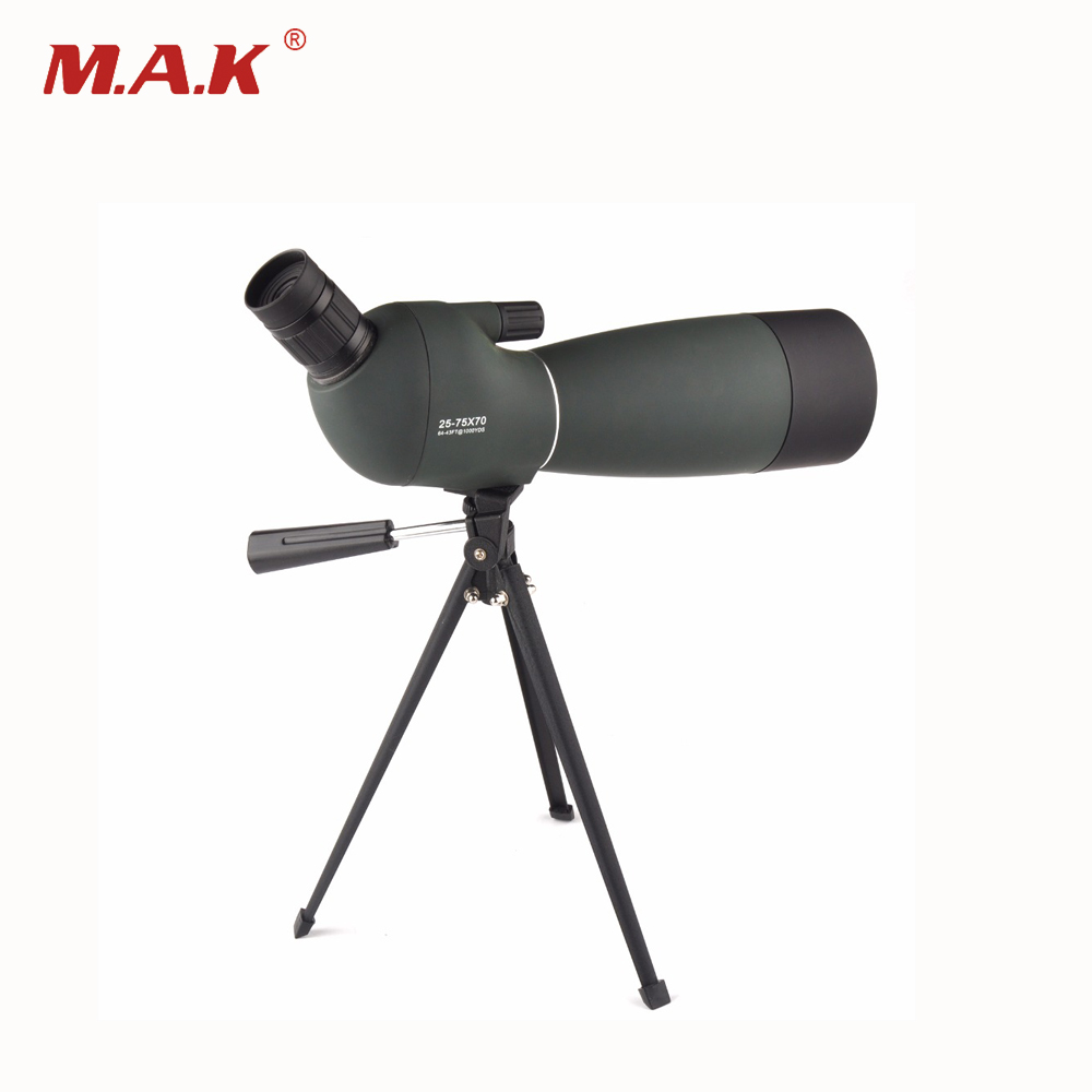 Army Green 25-75X70 HD Monocular Telescope BAK4 Prism Target Spotting Scope with Free Tripod For Birdwatching Outdoor Watching free delivery children with monocular space telescope 600 50mm