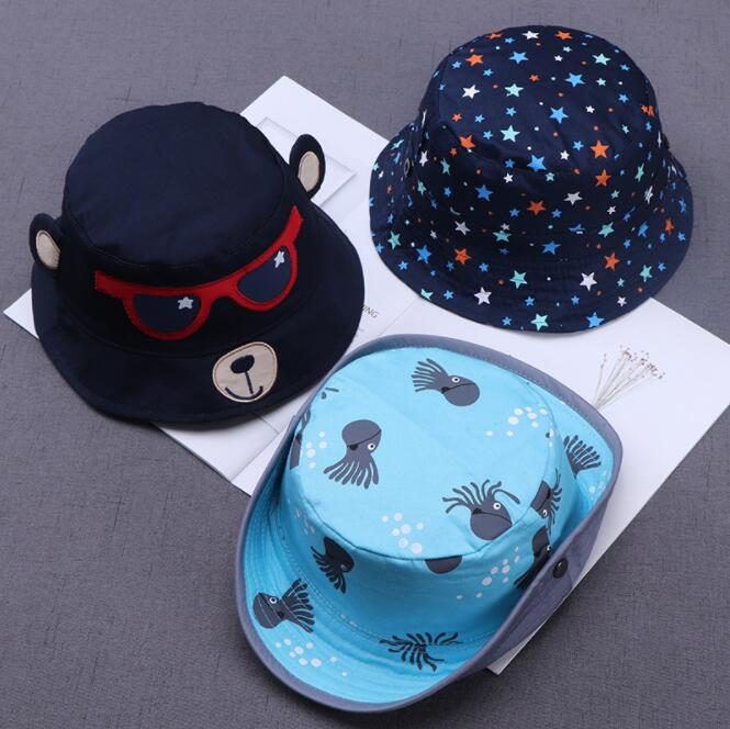 Adjustable Fashion Toddler Kids Baby Boys Girls Bucket Hats Sun Helmet Cap Soft Comfortable Spring Summer Autumn Accessory