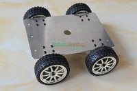 DIY 159 Smart Aluminum Alloy Car Vehicle Chassis 25 Type All Wheel Drive Robot Car Chassis