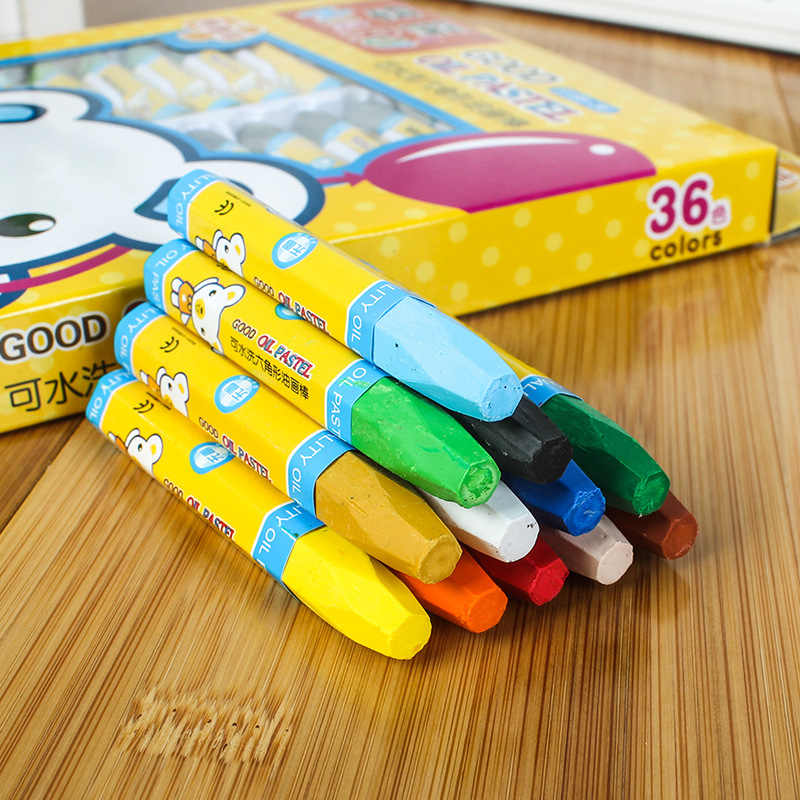 36 Color Children's Art Graffiti Office School Painting Supplies Crayon Washable Oil Pastel Gift