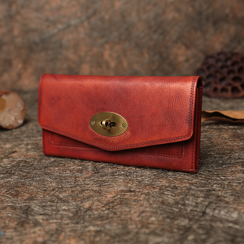 Clutch Long Style Women s Wallets 2019 Vintage Handmade Genuine Leather Purse FCTOSSR Cell Phone Pocket