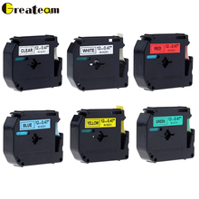 Greateam 1pcs Compatible with Brother M-K231 MK231 MK 231 Black on White 12mm laminated strong adhesive label tapes for PT-80